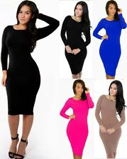 Kim K Long Sleeves Prom Party Bodycon Celeb Inspired Cocktail Sheath Dresses