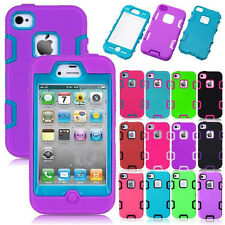 Heavy Duty Hybrid Shockproof Camo Durable Hard Case Cover For iPhone 4 4S 4G
