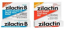 Zilactin-B Canker & Mouth Sore Relief Gel or Zilactin Cold Sore Gel: 0.25 Oz