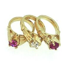 14k Yellow Gold Small Birthstone Ring Charm