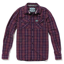 Superdry Mens Heritage Washbasket Long Sleeve Shirt Spinner Plaid Check (#7808)