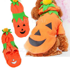 Halloween Pumpkin Costume Outfit Puppy Dog Cat Pet Clothes Warm Coat Apparel