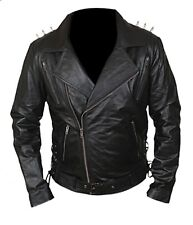 Ghost Rider Nicholas Cage Motorcycle Mororbike Biker Jacket with Metal Spikes