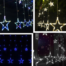 2.5M 168 LED Curtain Star String Fairy Light for Wedding Birthday Romantic Party