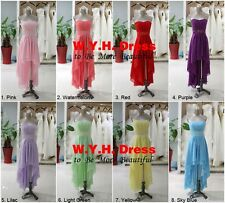 2014 Sexy New High Low Homecoming Dresses Chiffon Graduation Dresses Party Gown