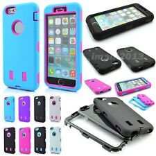 Dual Layers Hybrid Matte Shockproof Defender Robot Armor Case for iPhone 6 4.7""