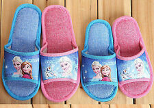 Movie Frozen Elsa/Anna Princess Slippers Kid Girl Boy Children 2 Style Xmas Gift