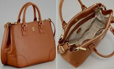 New Authentic Tory Burch Robinson Double Tote Zip Brown - With Tags and Dustbag
