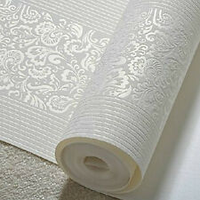 Modern Fashion Non-woven Flocking Wallpaper Embossed Textured Wallpaper Roll 10M