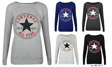 NEW LADIES WOMENS CONVERSE ALL STAR SPORTSWEAR SWEATSHIRT TOP JUMPER SIZE 8-14
