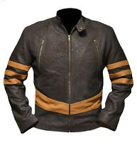 Xmen Origin Wolverine Logan Hugh Jackman Distressed Brown and Tan Jacket