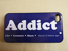 IPHONE 4, 4S, 5, 5S FITTED CASE - FACEBOOK ADDICT - LIKE - SHARE - COMMENT - FUN