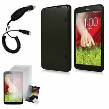 TPU Rubber Gel Case Cover+Film+Charger for LG G Pad 8.3 LG V500 Google Play