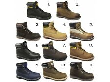 Caterpillar COLORADO Mens Leather Nubuck Lace-Up Wide Goodyear Welted Work Boots