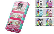 Impact Rubberized Hybrid Molded Protector TUFF Merge Case for Samsung Galaxy S5