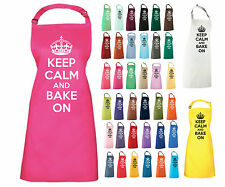 KEEP CALM AND BAKE ON APRON GREAT BRITISH BAKE OFF PRESENT GIFT CHRISTMAS COOK