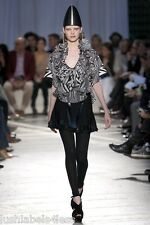 GIVENCHY Designer Runway Silk Black White Blouse Top (rrp £1820) UK4 & 6 Couture