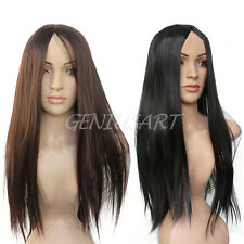 Fashion Women Sexy Long Straight Synthetic Hair Full Wigs Cosplay Party Hot