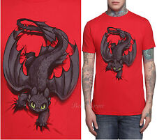 NEW How To Train Your Dragon 2 TOOTHLESS Night Fury X-ing Mens Slim T-Shirt S-2X