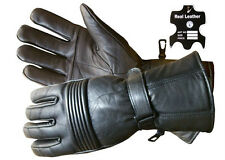 New Unisex Mens & Ladies Motorcycle Biker Moto Gloves Made In Real Leather