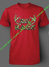 New MOSSY OAK NICE RACK Red T-Shirt funny camo beast cancer hunting camping