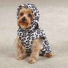 Zack & Zoey Reversible Snow Leopard - Black Hooded Dog Vest Coat XXS to Lg NWT