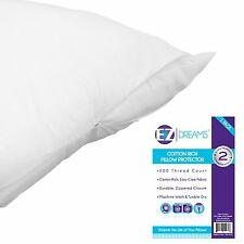 EZ Dreams King Size Cotton Rich Pillow Protector: 200 Thread Count, Zippered