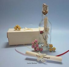 FLOWERGIRL PERSONALISED MESSAGE IN A BOTTLE GIFT
