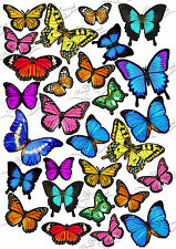 Butterfly Edible Mixed colours Pre-Cut Wafer Rice paper Cup Cake toppers