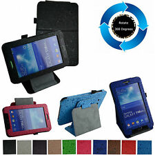 """360° Rotating Stand Lovely Pattern Case for 7"""" Samsung Galaxy Tab 3 Lite T110"""