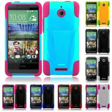For HTC Desire 510 Hybrid T-STAND Kickstand Cover Case + Screen Guard
