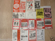 Stirling Albion  Home Programmes  1969 onwards. Select the one(s) you require