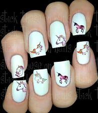 30 CUTE RAINBOW UNICORN NAIL ART STICKERS TRANSFERS PARTY FAVORS