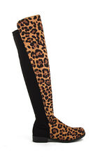 Leopard Suede NEW Bamboo Iconic-01 Over The Knee Boot