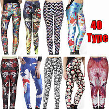 NEW Skinny Colorful Print Leggings Stretchy Sexy Jeggings Pencil Tights Pants