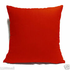 ccc-a13 RED High Quality Cotton Canvas Cushion/Pillow Cover Custom Size