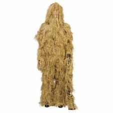 Ghillie Suit Desert Dry Grass Complete 4 Pc. Hood Rifle Wrap Pants Jacket