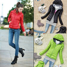 Fashion Womens Winter Warm Candy Color Thin Slim Down Coat Jacket Overcoat Parka