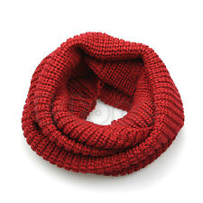 Unisex Warm LARGE Winter Knit Cowl Neck Long Scarf Shawl Infinity 2 Circle Cable