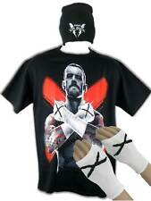 CM Punk WWE Cross Fists Costume Armbands T-shirt Beanie