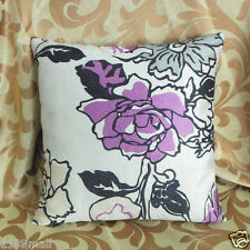 "Cushion Cover""Nice Floral ""Thick Linen Cotton Blend ""Custom Made"" YF077-8"