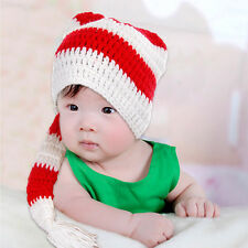 Wholesale lots New Winter Infant Baby Crochet Knitted Long Tail Beanie Hat Cap