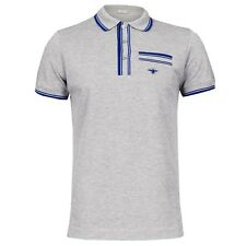 """NEW CHRISTIAN DIOR HOMME """"RESORT WASP"""" GRAY/BLUE POLO SHIRT NWT $544"""