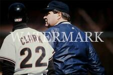 Will Clark Giants Chats with Umpire Baseball Color 8x10 11x14 12x18 Photo AD501