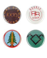 Twin Peaks Button Set! Bookhouse Boys, one eyed jacks, David Lynch, agent cooper