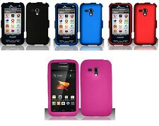 For Samsung Galaxy Rush M830 Hard & Silicon Skin Phone Cover Case