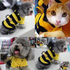 Hoodie Costume Outfit Clothes Cat Pet Bee Apparel Coat Puppy Fancy Cute Dog