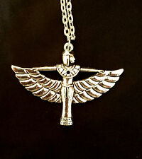 egyptian pendant necklace / earrings goddess pharaoh silver plated 20 inch chain
