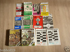 Newcastle Utd Home Programmes 1970/71 to 1976/77. Select the one you want