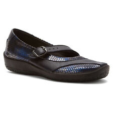 Arcopedico Women's L39 Mary Jane Water-Resistant Flat Shoes Blue Metallic 4491